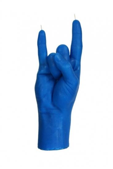 Фото - Свеча в виде руки Коза синяя купить в киеве на подарок, цена, отзывы