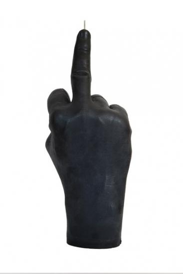 Фото - Свеча черная в виде руки Средний палец купить в киеве на подарок, цена, отзывы