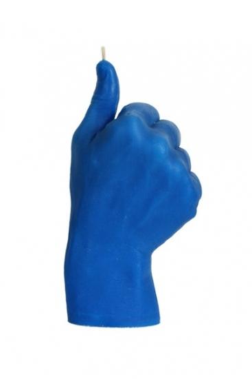 Фото - Свеча синяя в виде руки Like купить в киеве на подарок, цена, отзывы