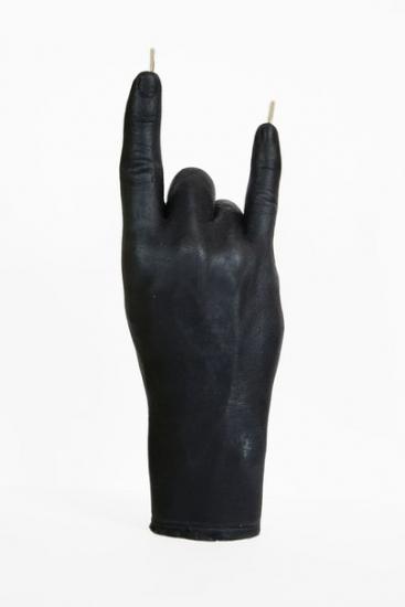 Фото - Свеча в виде руки Коза черная купить в киеве на подарок, цена, отзывы