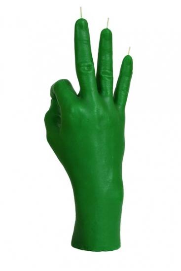 Фото - Свеча зеленая в виде руки ОК купить в киеве на подарок, цена, отзывы