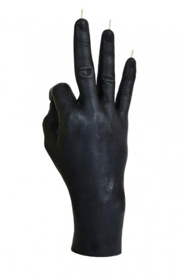 Фото - Свеча черная в виде руки ОК купить в киеве на подарок, цена, отзывы