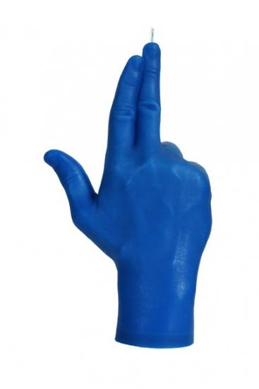 Фото - Свеча синяя в виде руки GUN купить в киеве на подарок, цена, отзывы