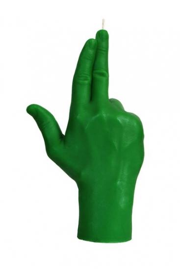Фото - Свеча зеленая в виде руки GUN купить в киеве на подарок, цена, отзывы