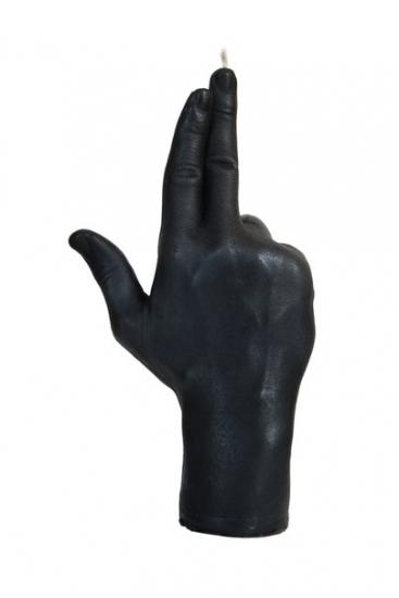 Фото - Свеча черная в виде руки GUN купить в киеве на подарок, цена, отзывы