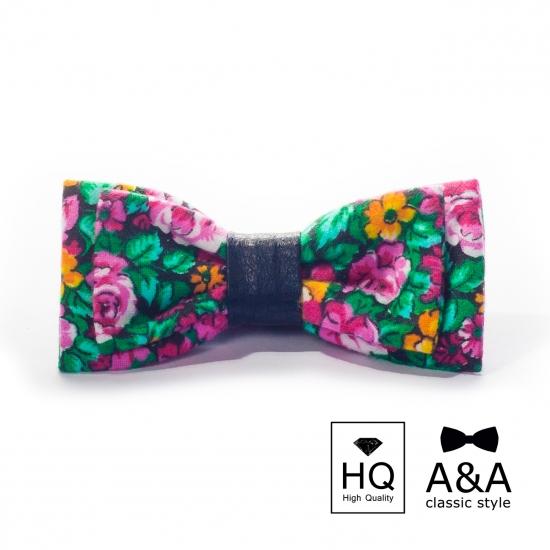 Фото - Галстук-бабочка цветущая весна Текстиль + кожа купить в киеве на подарок, цена, отзывы