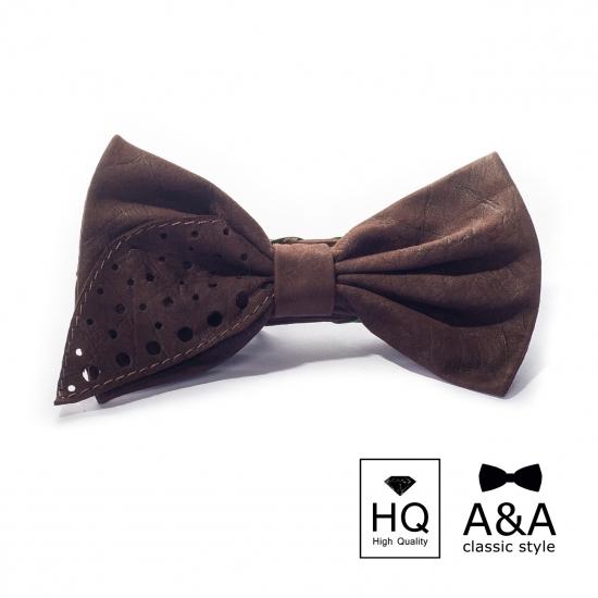 Фото - Галстук-бабочка Роберт Первосортная итальянская кожа купить в киеве на подарок, цена, отзывы