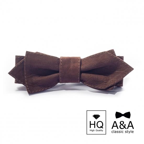 Фото - Галстук-бабочка Такер Первосортная итальянская кожа купить в киеве на подарок, цена, отзывы