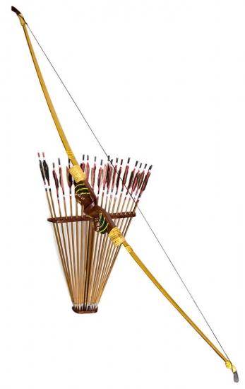 Фото - Сувенирный лук со стрелами 150Х70 см купить в киеве на подарок, цена, отзывы