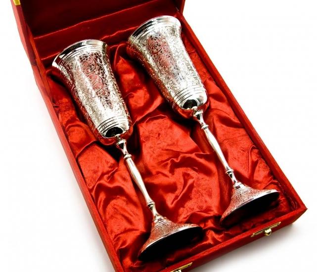 Фото - Бокалы бронзовые посеребренные Harry купить в киеве на подарок, цена, отзывы