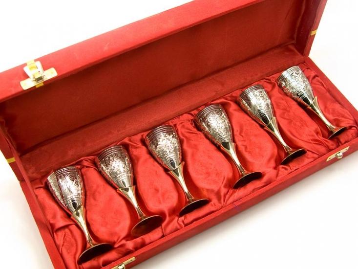 Фото - Бокалы бронзовые посеребренные 6 шт Charlie купить в киеве на подарок, цена, отзывы