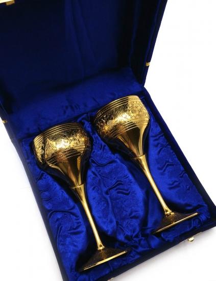 Фото - Бокалы бронзовые позолоченные Jacob купить в киеве на подарок, цена, отзывы
