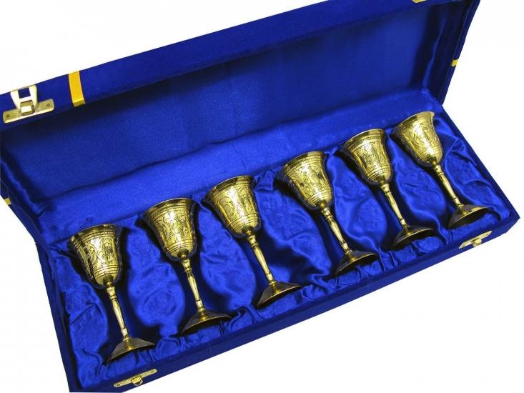 Фото - Бокалы бронзовые позолоченные 6 шт Ethan купить в киеве на подарок, цена, отзывы