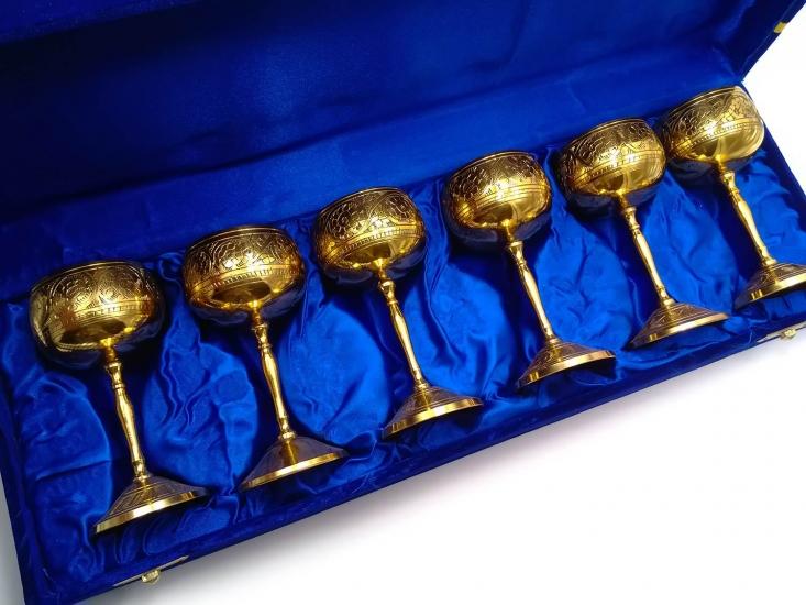 Фото - Бокалы бронзовые позолоченные 6 шт Mohammed купить в киеве на подарок, цена, отзывы