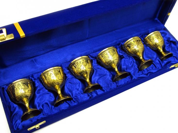 Фото - Бокалы бронзовые позолоченные 6 шт Oscar купить в киеве на подарок, цена, отзывы