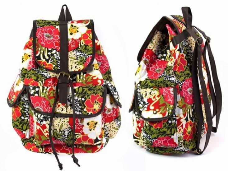 Фото - Рюкзак Холщовый Pattern Маки  купить в киеве на подарок, цена, отзывы