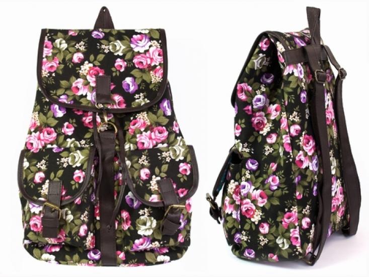 Фото - Рюкзак Холщовый Pattern цветущие Пионы купить в киеве на подарок, цена, отзывы