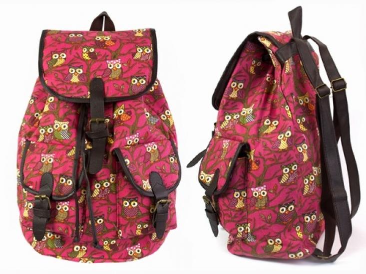 Фото - Рюкзак Холщовый Pattern Совушки Розовый купить в киеве на подарок, цена, отзывы
