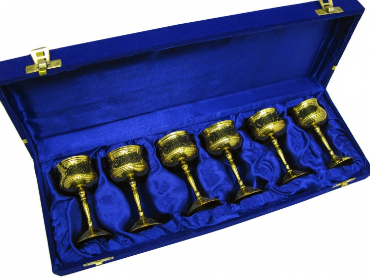 Фото - Бокалы бронзовые позолоченные Caphis купить в киеве на подарок, цена, отзывы