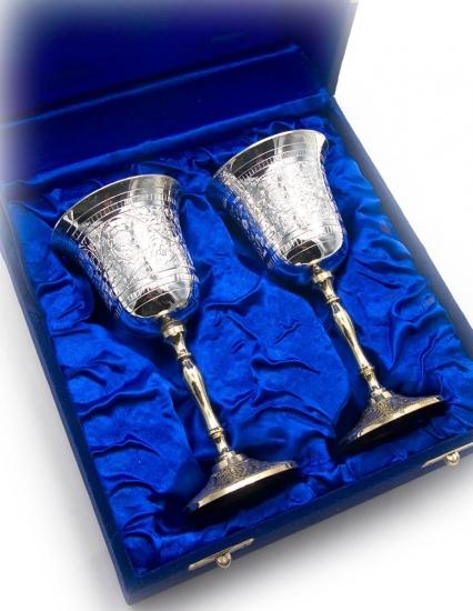 Фото - Бокалы бронзовые посеребренные  Carys купить в киеве на подарок, цена, отзывы