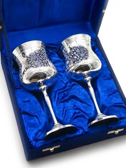 Фото - Бокалы бронзовые посеребренные Catie купить в киеве на подарок, цена, отзывы