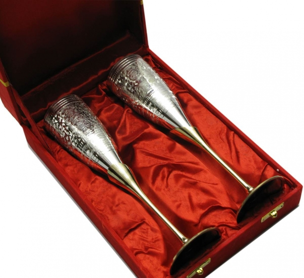 Фото - Бокалы бронзовые посеребренные Cayci купить в киеве на подарок, цена, отзывы