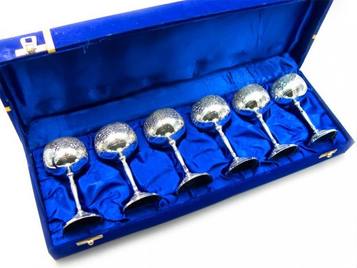 Фото - Бокалы бронзовые посеребренные Denesee купить в киеве на подарок, цена, отзывы