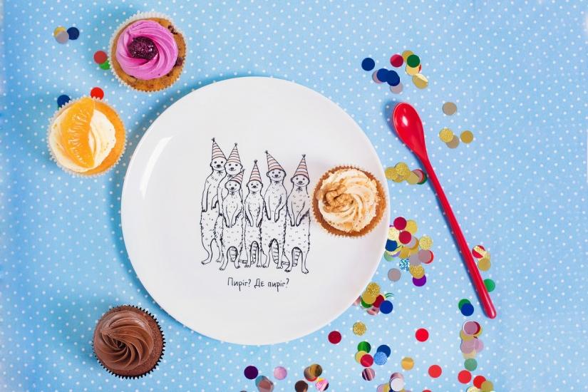 Фото - Тарелка Голодные Сурикатики купить в киеве на подарок, цена, отзывы