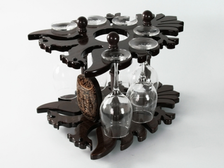Фото - Мини Бар Ореховый темный купить в киеве на подарок, цена, отзывы