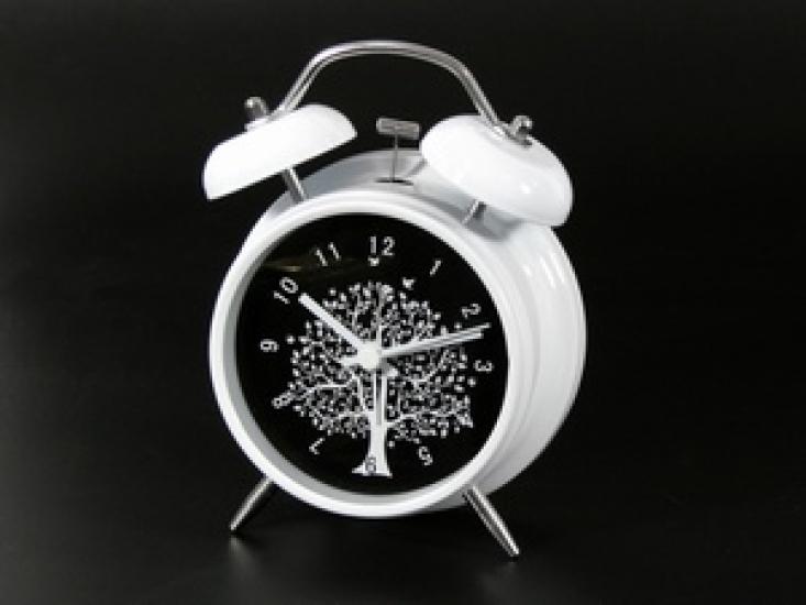 Фото - Будильник Белый Evalyn 16 см купить в киеве на подарок, цена, отзывы