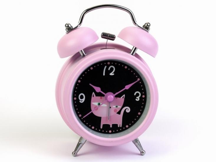 Фото - Будильник Кот Нежно-Розовый 12,5 см купить в киеве на подарок, цена, отзывы