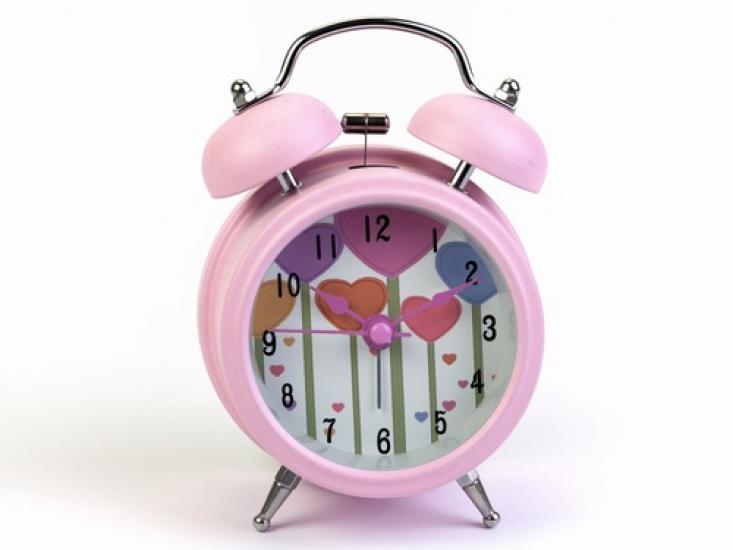 Фото - Будильник Роща Сердец Нежно-Розовый 12,5 см купить в киеве на подарок, цена, отзывы