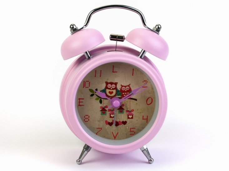 Фото - Будильник Совы Нежно-Розовый 12,5 см купить в киеве на подарок, цена, отзывы