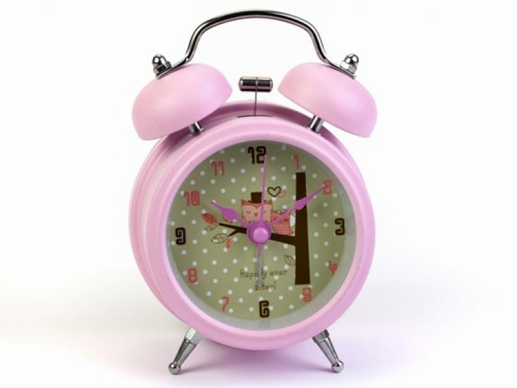 Фото - Будильник  Совы Любовь Нежно-Розовый 12,5 см купить в киеве на подарок, цена, отзывы