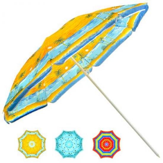 Фото - Зонт пляжный с наклоном D1,8  купить в киеве на подарок, цена, отзывы