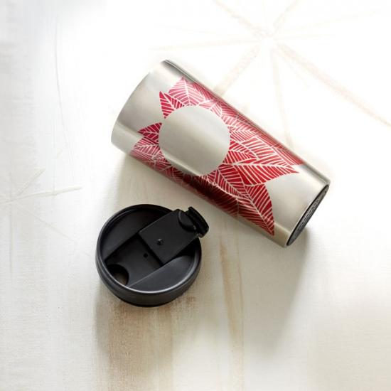 Фото - Стальная Термокружка Starbucks Красные листья купить в киеве на подарок, цена, отзывы