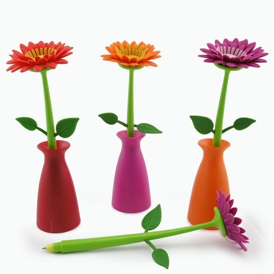 Фото - Ручка Цветок Гербера в вазе купить в киеве на подарок, цена, отзывы