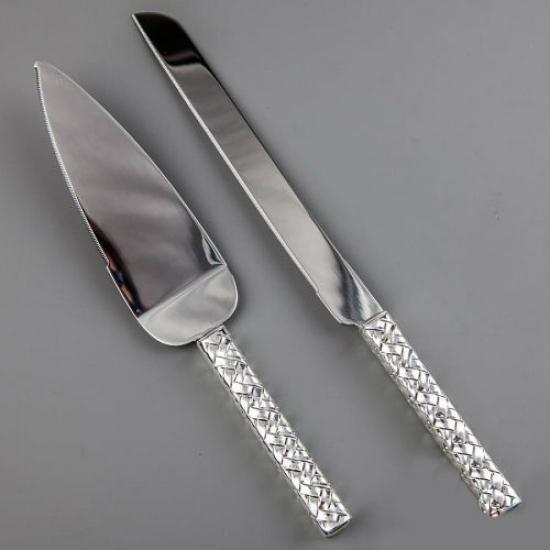Фото - Нож и лопатка для торта Косичка купить в киеве на подарок, цена, отзывы
