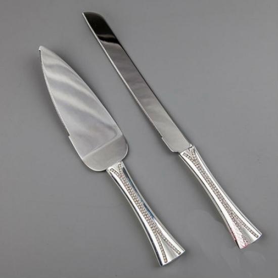 Фото - Нож и лопатка для торта Кристаллики купить в киеве на подарок, цена, отзывы