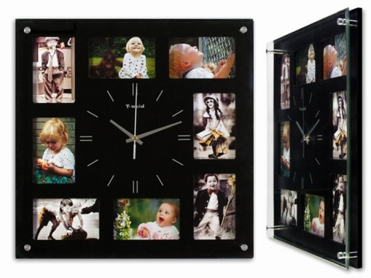 Фото - Фоторамка с часами Квадрат купить в киеве на подарок, цена, отзывы