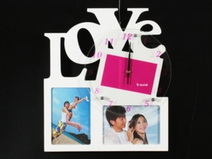 Фото - Фоторамка с часами LOVE купить в киеве на подарок, цена, отзывы