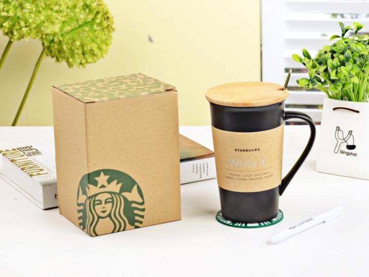 Фото - Керамическая чашка Starbucks с маркером купить в киеве на подарок, цена, отзывы
