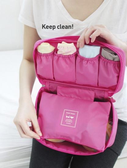 Фото - Органайзер для белья дорожный розовый Monopoly купить в киеве на подарок, цена, отзывы
