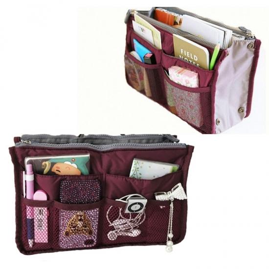 Фото - Органайзер Bag in bag maxi бордовый купить в киеве на подарок, цена, отзывы