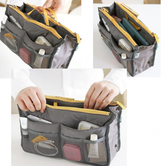 Фото - Органайзер Bag in bag maxi серый купить в киеве на подарок, цена, отзывы