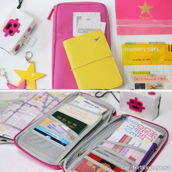 Фото - Органайзер для путешествий дорожный авиа розовый купить в киеве на подарок, цена, отзывы