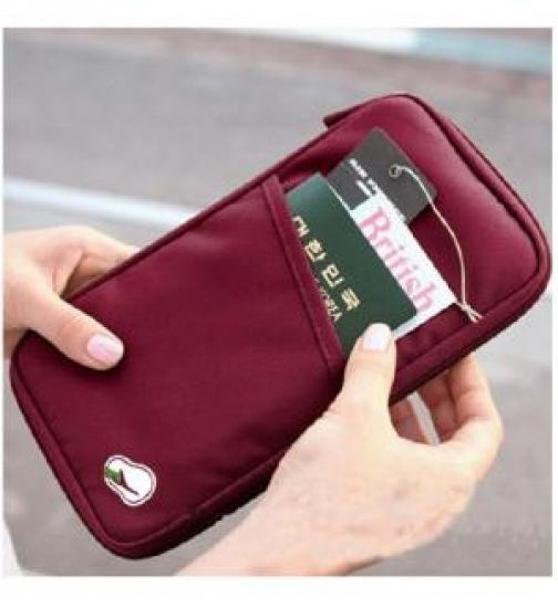 Фото - Органайзер для путешествий дорожный авиа бордовый купить в киеве на подарок, цена, отзывы