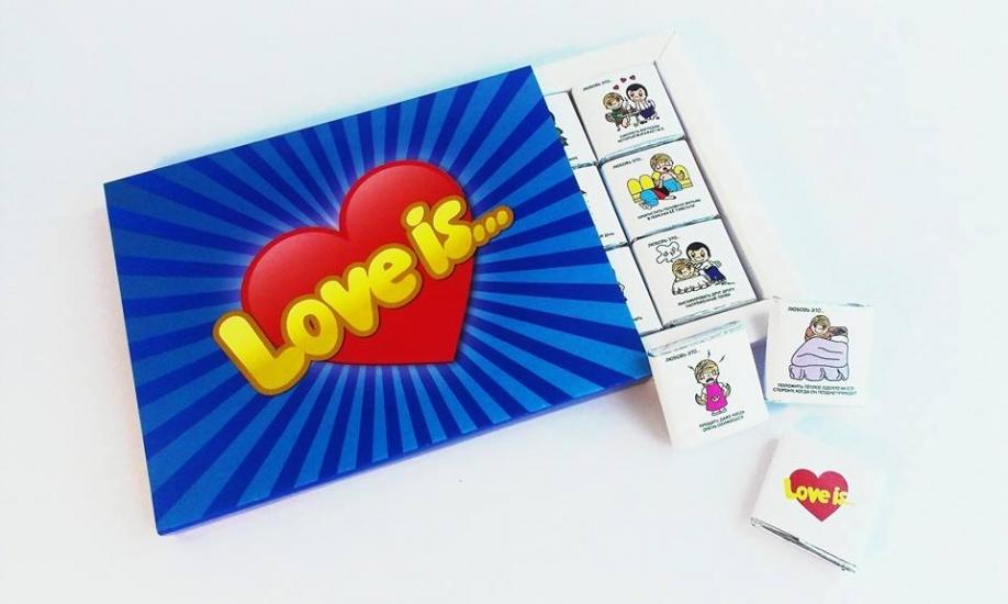 Фото - Шоколадный набор Любовь это  купить в киеве на подарок, цена, отзывы