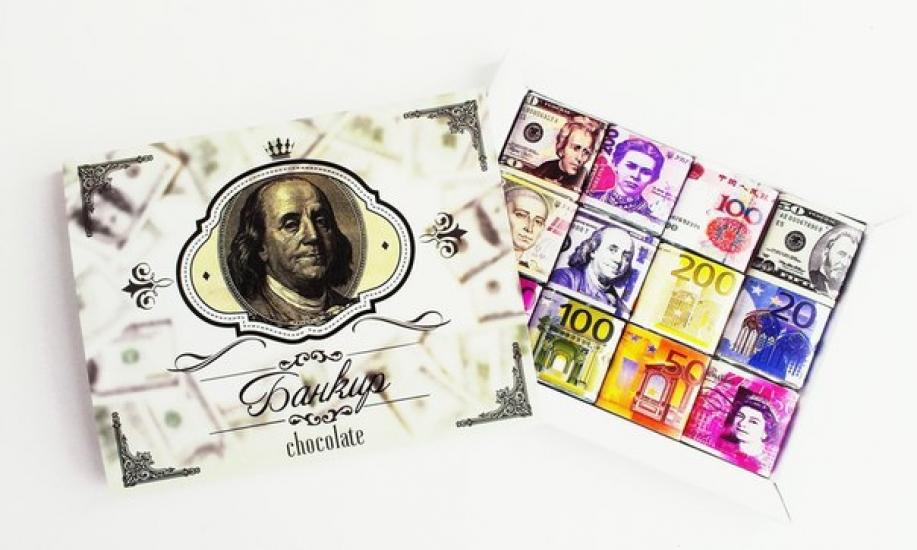 Фото - Шоколадный набор Банкир  купить в киеве на подарок, цена, отзывы
