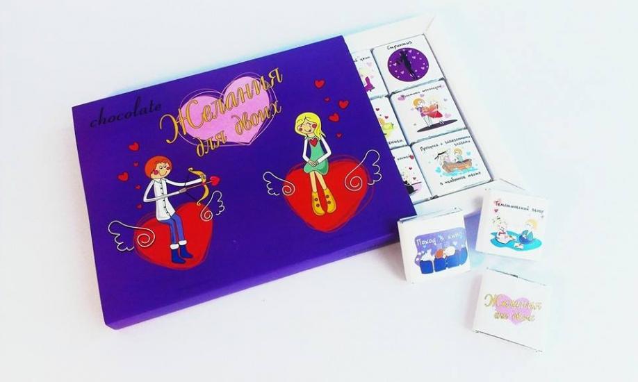 Фото - Шоколадный набор Желания для двоих  купить в киеве на подарок, цена, отзывы
